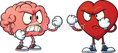 تقابل مغز و قلب